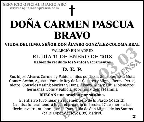 Carmen Pascua Bravo